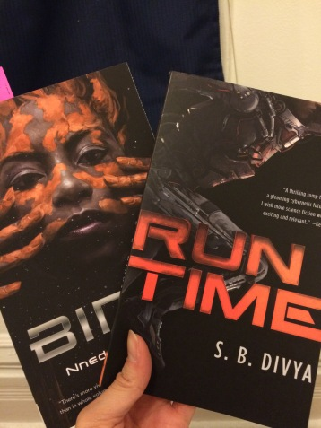 The two Tor.com novellas I picked up at the event. BINTI received the Nebula Award for Best Novella the night after the event I attended.