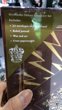 Speaking of Harry Potter... I discovered a Gryffindor stationery set. My time has come.