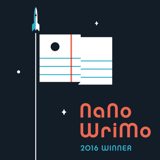 NaNoWriMo 2016 Winner badge