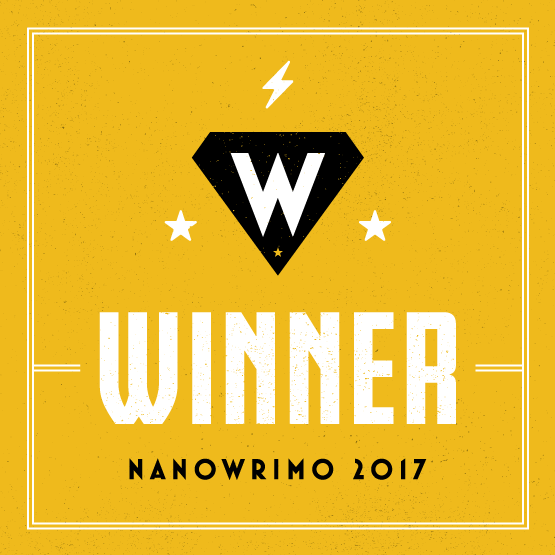 NaNoWriMo 2017 Winner badge
